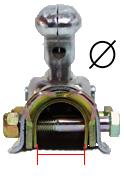 Rördiameter för kulkoppling på släp