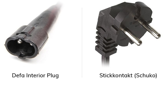 Defa Interior Plug vs Schuko